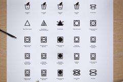 95 Fabric Wash Care Icon/Symbol Product Image 4