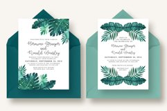 Tropical Leaves Invitation Suite Product Image 4