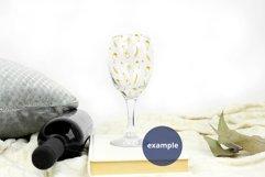 Plain Background Stemmed Wine Glass mockup PSD, Glass mockup Product Image 2