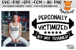Funny Personal TrainerFitness SVG Product Image 1