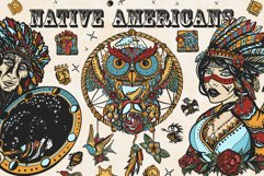 Native Americans old school tattoo Product Image 1
