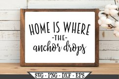 Home Is Where The Anchor Drops SVG Product Image 2