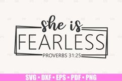 She Is Fearless SVG files for Cricut, She Is Strong SVG Product Image 1