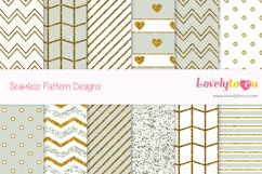Gold and Olive feminine seamless pattern backgrounds Product Image 1