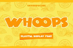 Whoops - Playful Display Font Product Image 1