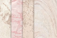 Rose Gold Marble Digital Paper, Nude marble textures, Marble Product Image 2