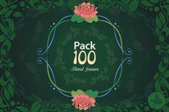 Pack of 100 Floral Frames, vector clipart bundle Product Image 1