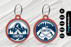 Camping Badge Keychain Product Image 1