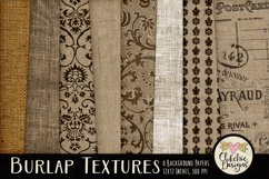 Burlap Background Textures - Rustic Burlap Backgrounds Product Image 1