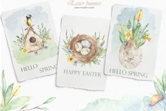 Easter bunnies watercolor Product Image 7