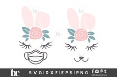 Easter SVG | Bunny Face Bunny Ears | Quarantined Easter SVG Product Image 2