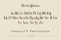 Revivalisem Sans Serif Font Product Image 3