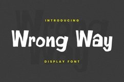Web Font Wrong Way Font Product Image 1