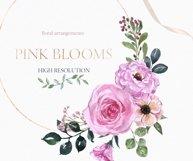 Blush pink floral Frame Frames Borders PNG Rose Gold Clipart Product Image 6