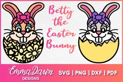 BETTY THE EASTER BUNNY SVG, 2 MANDALA / ZENTANGLE DESIGNS Product Image 1