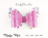 Bow Bundle Template SVG, Spring Bow SVG, Faux Leather Bow Product Image 3
