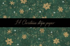 Christmas stripe digital paper pattern Product Image 5