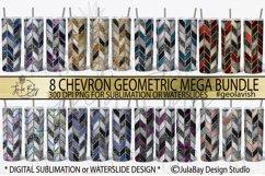 Tangram Skinny Tumbler Bundle Chevron Sublimation Design PNG Product Image 1