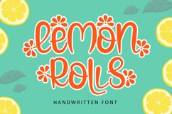 Lemon Rolls - A Cute and Quirky Font Product Image 1