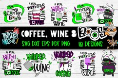 Coffee Wine and Boos Halloween SVG Bundle Product Image 1