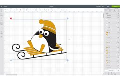 Winter funny penguins clipart Product Image 2