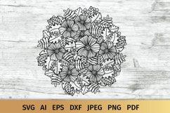 Floral Mandala SVG Product Image 1