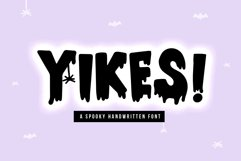 Yikes - A Dripping Halloween Font Product Image 1