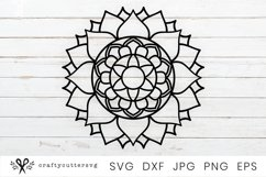 Sun Mandala SVG File | Zentangle SVG | Printable clipart Product Image 2