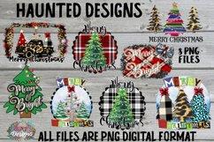 Merry Christmas Tree Sublimation Bundle Clip Art Design Product Image 1