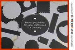 Stitched Nesting Shapes SVG | card making sketch foil paper Product Image 2