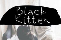 Black Kitten - A Handwritten Font Product Image 1
