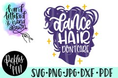 dance hair svg - girls dance svg Product Image 1