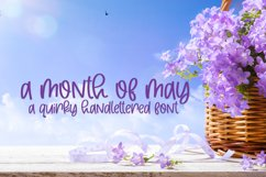 A Month Of May - A Quirky Handlettered Font Product Image 1