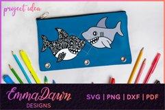 SAMMY THE SHARK SVG MANDALA / ZENTANGLE DESIGN Product Image 4