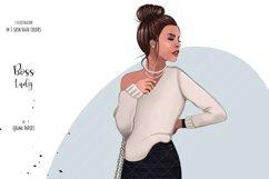 Boss Lady Clipart, Fashion Girl Illustration Product Image 4