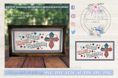 Faith Family Freedom with Cross Patriotic SVG DXF LL127D Product Image 1