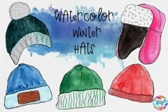 Watercolor Winter Hat Illustrations Product Image 1