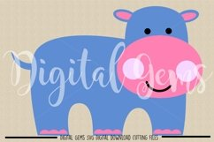 Hippo SVG / PNG / EPS / DXF files Product Image 2