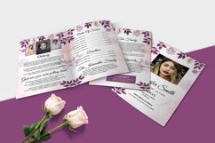 Floral Funeral Program MS Word & Photoshop Template Product Image 3