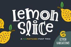 Lemon Slice Font Trio Product Image 1