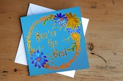 Floral Scribble Frames - Single line Designs  Foil Quill Product Image 4