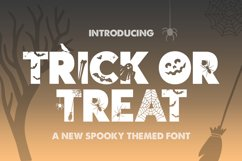 Trick or Treat Silhouette Font Product Image 1