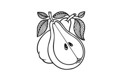Pear hand drawn vintage style vector illustrations. Product Image 2