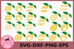 Lemon SVG, Lemon Monogram Svg, Lemon Circle Frames, Lemon Product Image 1
