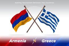 Armenia vs Greece Two Flags Product Image 1