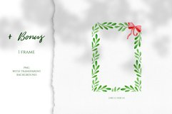 Watercolor Christmas Wreaths. Hand drawn holiday cliparts Product Image 4