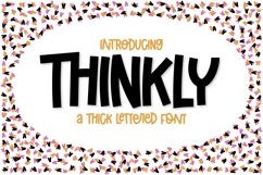 Thinkly - A Clean & Thick Lettered Font Product Image 1