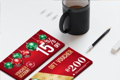 12 Christmas Voucher Template AI EPS CDR Product Image 3
