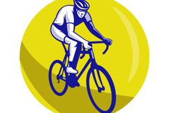 Cyclist riding racing bike Product Image 1