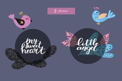 Magic birds with nibs in vector for baby staff svg, eps, png Product Image 4